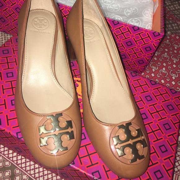 3432a387d2 Tory Burch Shoes | Royal Tan Janey 50mm Pump Calf Leather | Poshmark